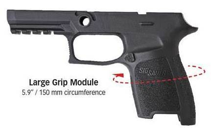 Sig P320 Large Grip Shell Circumference