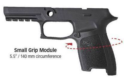 Sig P320 Medium Grip Shell Circumference