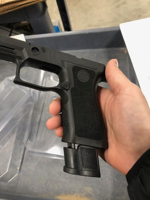 Sig P320 X-Series Grip Shell, Full Size, Medium, Grip Weight, Funnel
