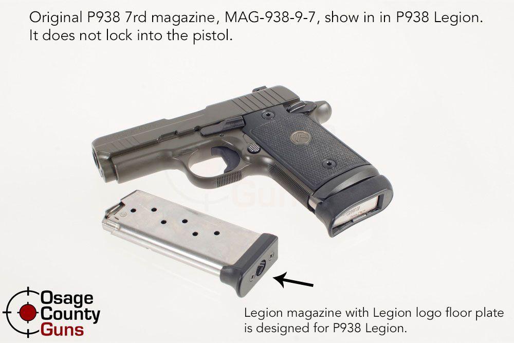 Sig P938 Legion Magazine Comparison