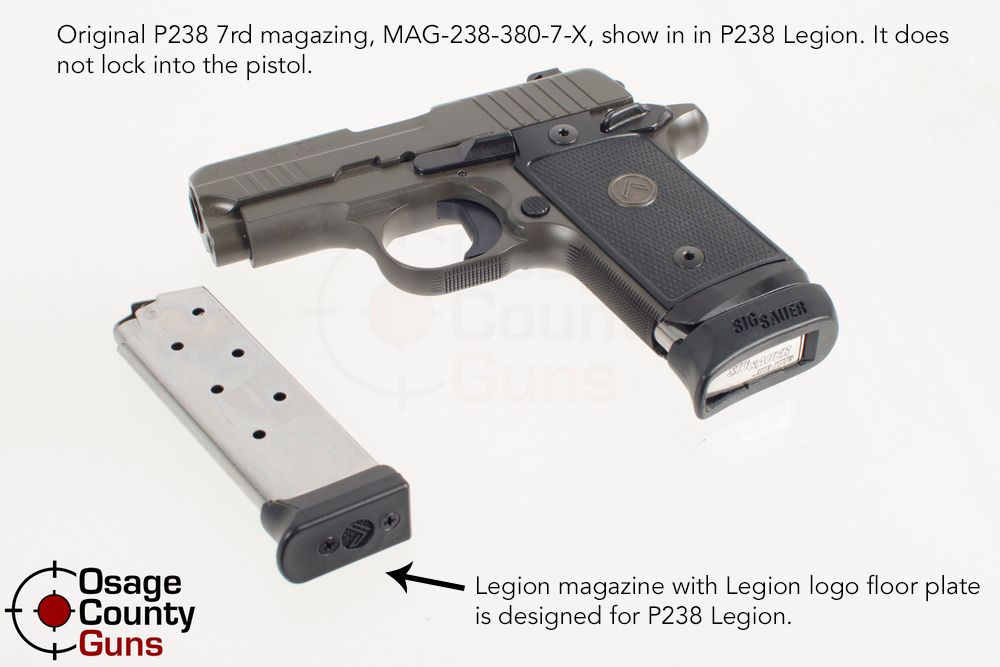 Sig P238 Legion Magazine Compatibility Illustration