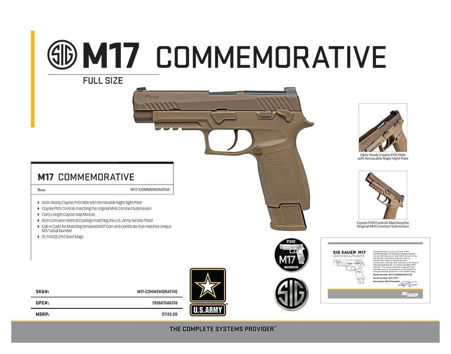 Sig M17 Commemorative Sell Sheet 1